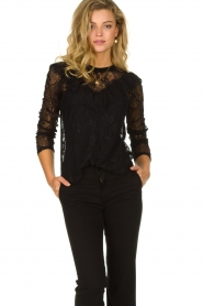 Set |  Lace top with ruffles Muse | black  | Picture 4