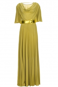 ELISABETTA FRANCHI |  Maxi dress Belle | green  | Picture 1