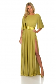 ELISABETTA FRANCHI |  Maxi dress Belle | green  | Picture 2