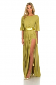 ELISABETTA FRANCHI |  Maxi dress Belle | green  | Picture 3