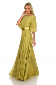 ELISABETTA FRANCHI |  Maxi dress Belle | green  | Picture 4
