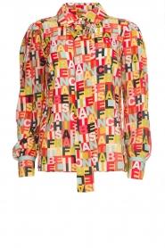 ELISABETTA FRANCHI |  Logo print blouse Nora | multi  | Picture 1