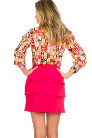 ELISABETTA FRANCHI |  Logo print blouse Nora | multi  | Picture 6