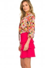 ELISABETTA FRANCHI |  Logo print blouse Nora | multi  | Picture 5