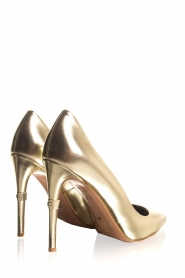 ELISABETTA FRANCHI |  Leather metallic pumps Mae | gold  | Picture 6