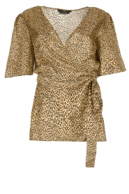 Set |  Leopard printed wrap top Momo | animal print  | Picture 1