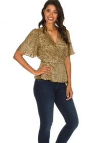 Set |  Leopard printed wrap top Momo | animal print  | Picture 5