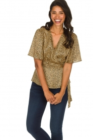 Set |  Leopard printed wrap top Momo | animal print  | Picture 2