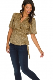 Set |  Leopard printed wrap top Momo | animal print  | Picture 4
