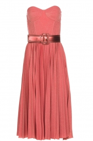 ELISABETTA FRANCHI |  Wired strapless lurex dress Phileine | pink  | Picture 1