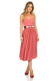 ELISABETTA FRANCHI |  Wired strapless lurex dress Phileine | pink  | Picture 3