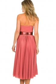 ELISABETTA FRANCHI |  Wired strapless lurex dress Phileine | pink  | Picture 7