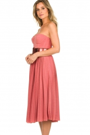 ELISABETTA FRANCHI |  Wired strapless lurex dress Phileine | pink  | Picture 6