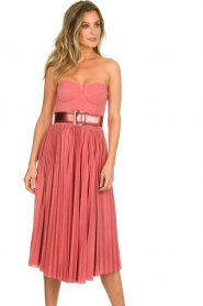 ELISABETTA FRANCHI |  Wired strapless lurex dress Phileine | pink  | Picture 5