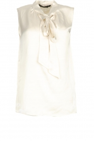 Set |  Sleeveless top with bow Mujo | white  | Picture 1