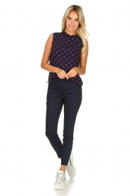 Set |  Sleeveless dotted top Max | blue  | Picture 3