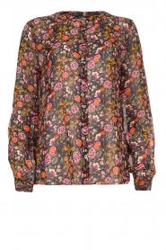 Set |  Floral blouse Myrna | black  | Picture 1