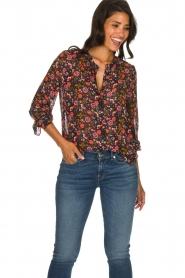 Set |  Floral blouse Myrna | black  | Picture 2
