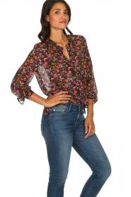 Set |  Floral blouse Myrna | black  | Picture 4
