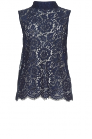 Rosemunde | Lace top Romee | blue