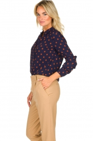 Set |  Dotted blouse Manu | blue  | Picture 5