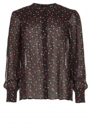 Set |  Blouse with hearts print Mila | black  | Picture 1