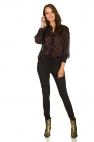 Set |  Blouse with hearts print Mila | black  | Picture 3