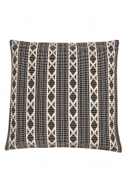Little Soho Living |  50x50 Printed cushion cover Renny | black & white  | Picture 1
