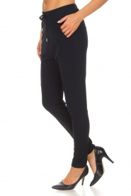 D-ETOILES CASIOPE |  Wrinkle-free stretch pants Guet | blue  | Picture 5