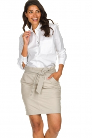 Set |  Oversized blouse Monica | white  | Picture 2