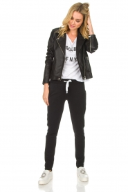 Set |  Leather biker jacket Tyler | black  | Picture 3