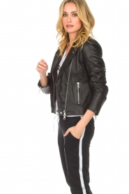 Set |  Leather biker jacket Tyler | black  | Picture 4