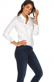 Set |  Classic stretch blouse Maxime | white  | Picture 4