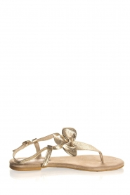 Maluo | Leather sandals Fabia | gold  | Picture 4
