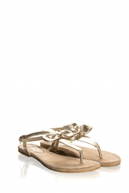 Maluo | Leather sandals Fabia | gold  | Picture 1