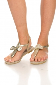 Maluo | Leather sandals Fabia | gold  | Picture 3