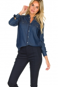 Set |  Denim blouse Maud | blue  | Picture 2