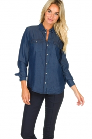 Set |  Denim blouse Maud | blue  | Picture 4