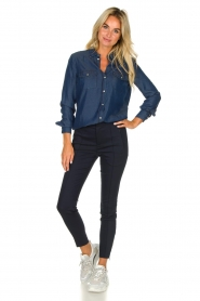 Set |  Denim blouse Maud | blue  | Picture 3