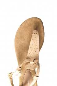 Maluo | Leather sandals Gisella | beige  | Picture 5