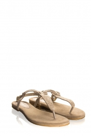 Maluo | Leather sandals Gisella | beige  | Picture 1