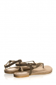 Maluo | Leather sandals Gisella | green  | Picture 5