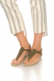 Maluo | Leather sandals Gisella | green  | Picture 3