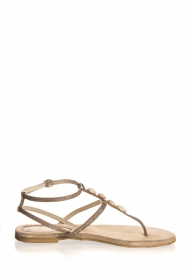 Maluo | Leather sandals Donna | grey  | Picture 1