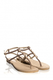 Maluo | Leather sandals Donna | grey  | Picture 4