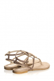 Maluo | Leather sandals Donna | grey  | Picture 5
