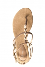Maluo | Leather sandals Donna | grey  | Picture 6