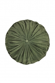 Little Soho Living |  50x50 Round velvet cushion Marta | green