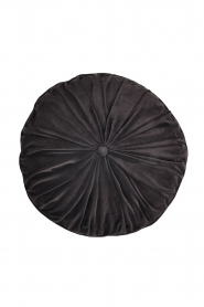 Little Soho Living |  50x50 Round velvet cushion Filipa | grey  | Picture 1