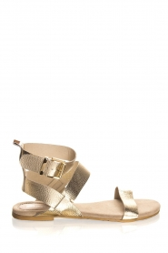 Maluo | Leather sandals Florentina | gold  | Picture 4